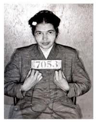 Rosa Parks' arrest photo.  http://meria.net/2006/01/meria-with-herbert-kohl-on-she-would-not-be-moved-rosa-parks/