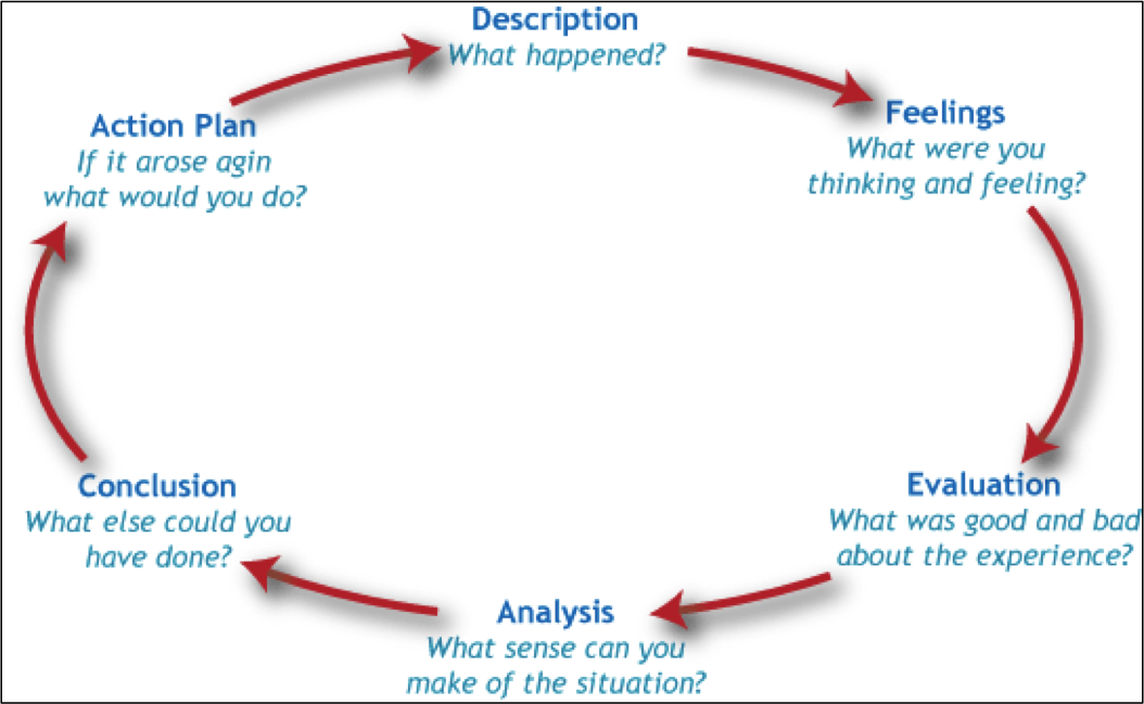 learning by gibbs reflective cycle seminar or prompt reflection in can ...