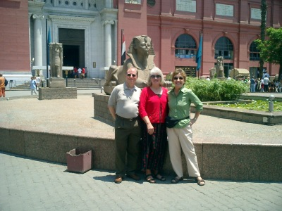 Karl Smith, Kathleen O'Donovan and Connie Tzenis heading to workshops on learning & teaching in Egypt.