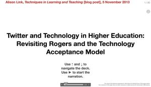 Twitter Tech Higher Ed presentation screenshot