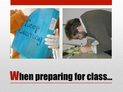3 When preparing for class