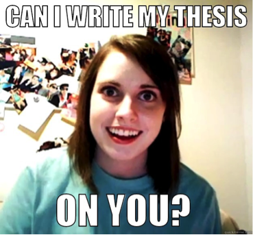 My thesis about you