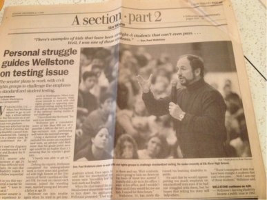 Paul Wellstone speaking about learning