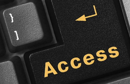 "Image of a computer keyboard key that says ""Access."""